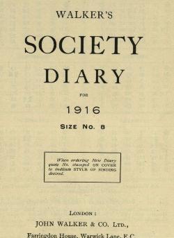 Sharp Diary 1916
