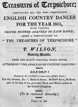 The Treasures of Terpischore by T. Wilson (1809)