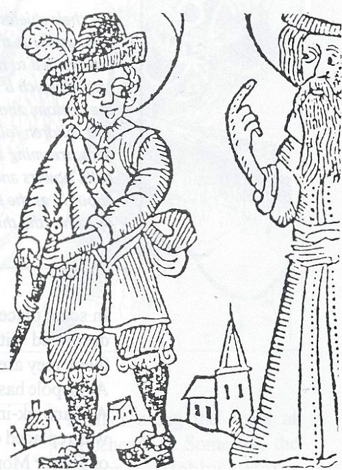 Woodcut of puritans