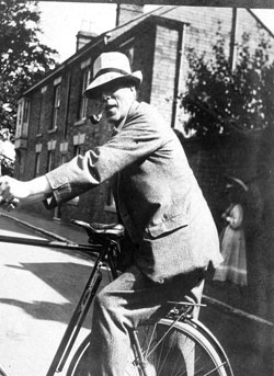 Cecil Sharp on a bike